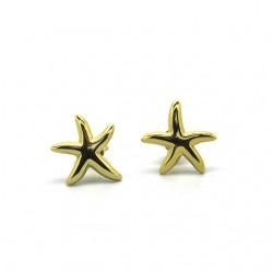 MINT- Pendientes estrella de mar bañados en oro de 18kt