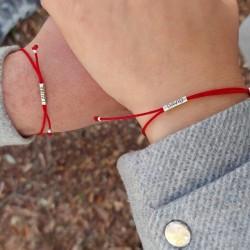 Hilo rojo dos pulseras