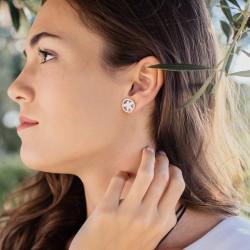 BLANCA - Pendientes pequeños con perla